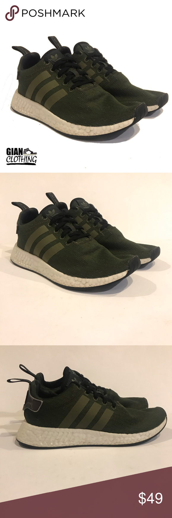 dbc6566a2 Adidas NMD R2 Green   Camo Men s size 8 PRE-OWNED Adidas NMD R2 ...