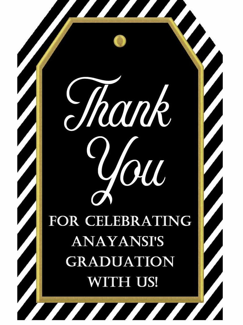 Wine Tag 112017 Anniversary Tags 60th Birthday Tag Personalized Black and White Thank You Tags:Printable Tags for Favors Graduation Tag