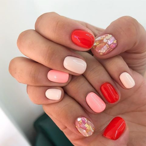 Pin By Laurel Currie On Nail Art In 2020 Pink Nails Red Nails Manicure