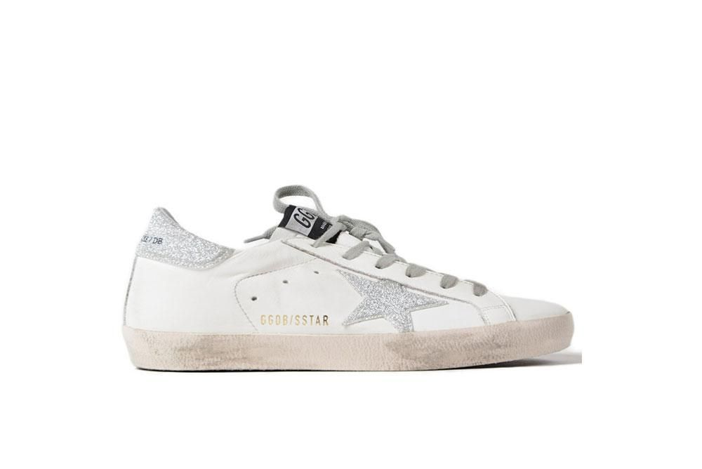 Sneakers Superstar White/Silver Glitter