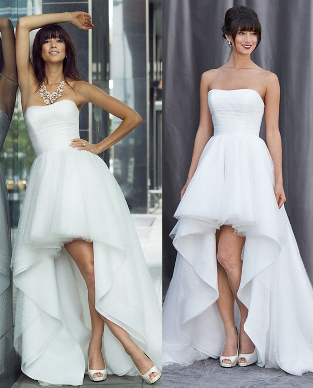 Romantic Sweetheart Beach Wedding Dress High Quality: WD230 Romantic Wedding Dresses, Short In Front Long Back