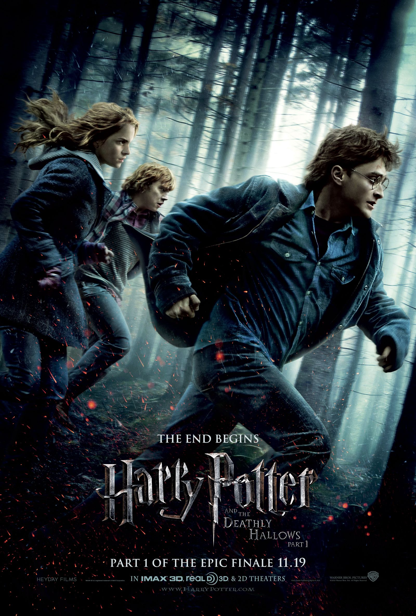 Harry Potter And The Deathly Hallows Part 1 Movie Poster Jpg 1600 2366 Pixels Deathly Hallows Harry Potter Film