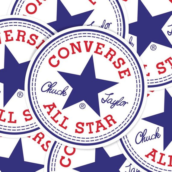 e42524fb8eb0 Converse All Star Chuck Taylor Stickers Converse Logo Stickers in ...