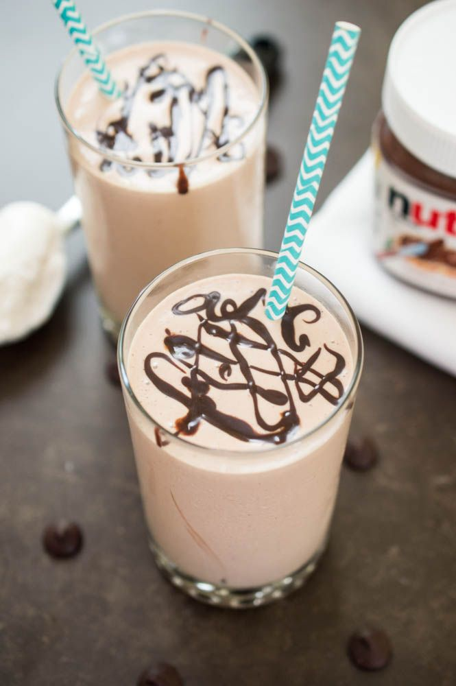 How To Make A Peanut Butter Milkshake With Nutella Chef Savvy Recipe Nutella Smoothie Peanut Butter Nutella Nutella Milkshake