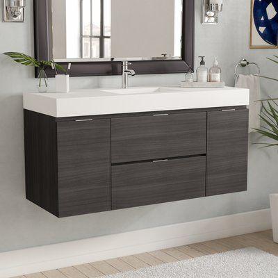 Wade Logan Tenafly 48 Single Wall Mount Modern Bathroom