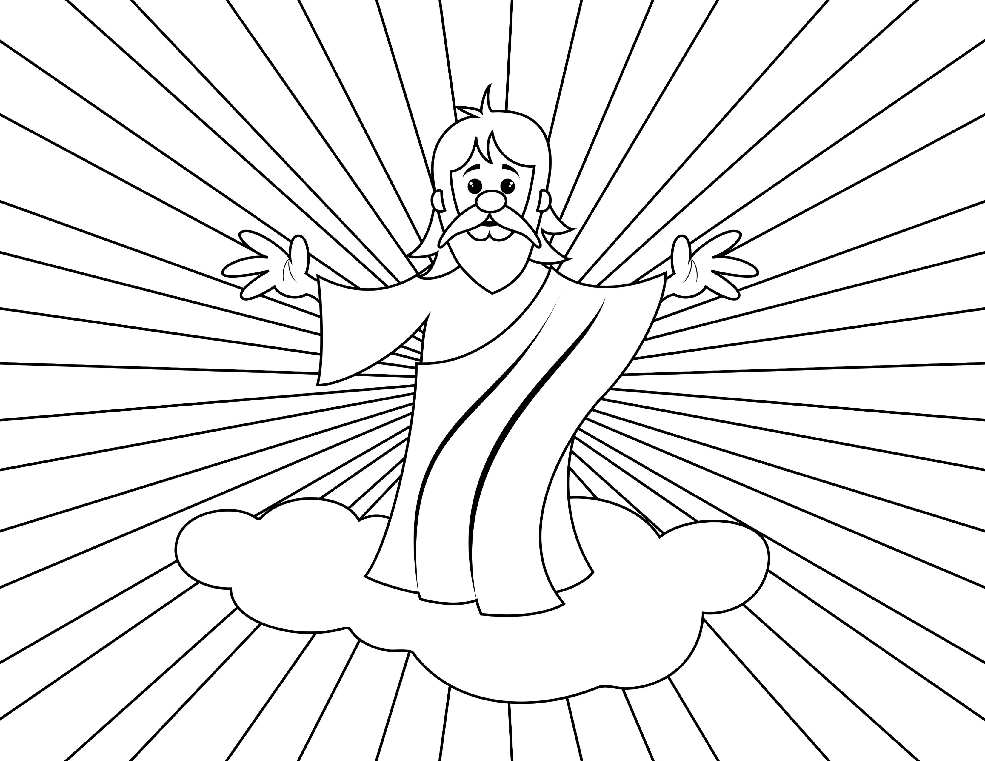 Printable Second Coming Picture For The Day 5 Lap Book Craft