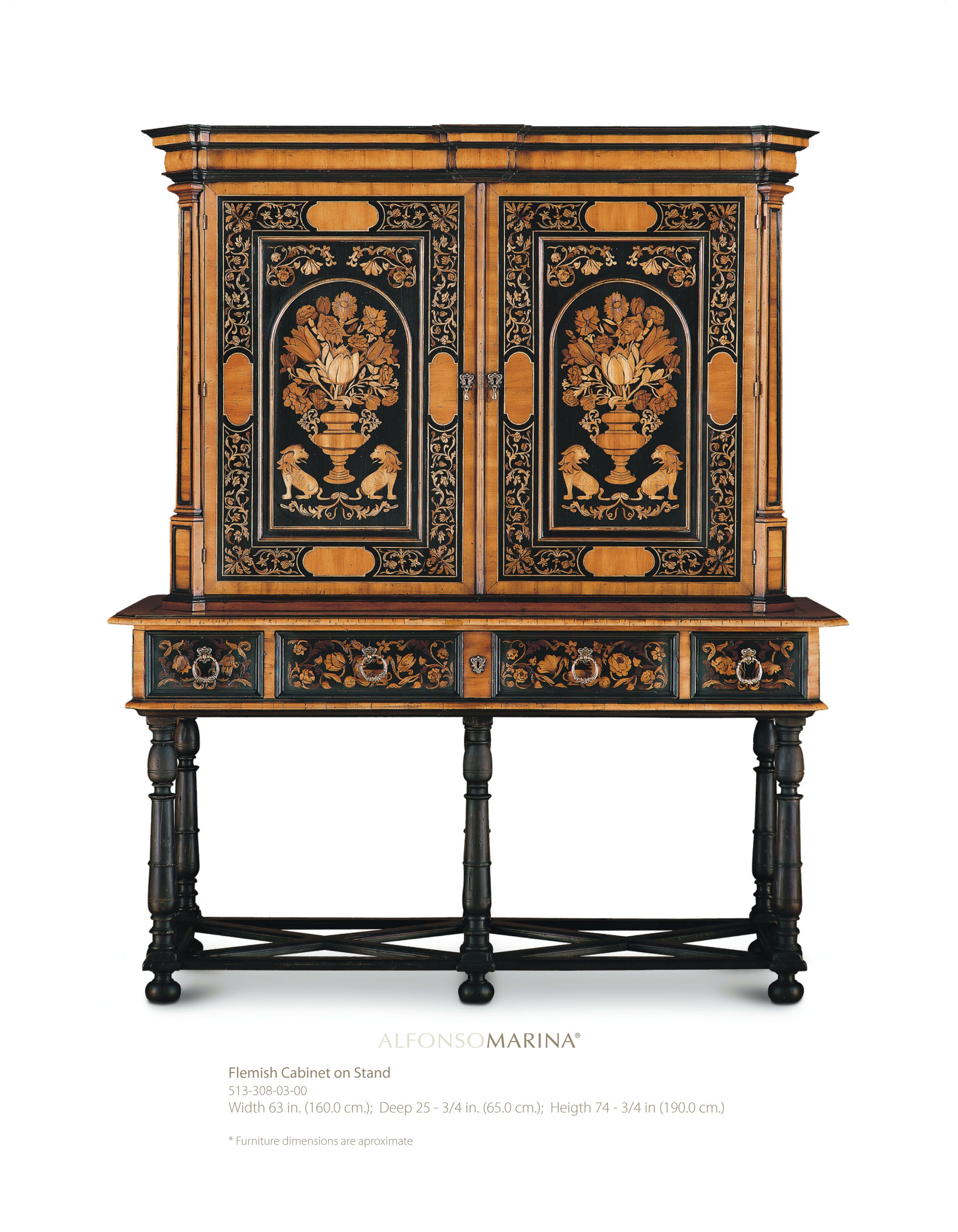 Flemish cabinet on stand by alfonso marina ebanista for Alfonso marina ebanista furniture