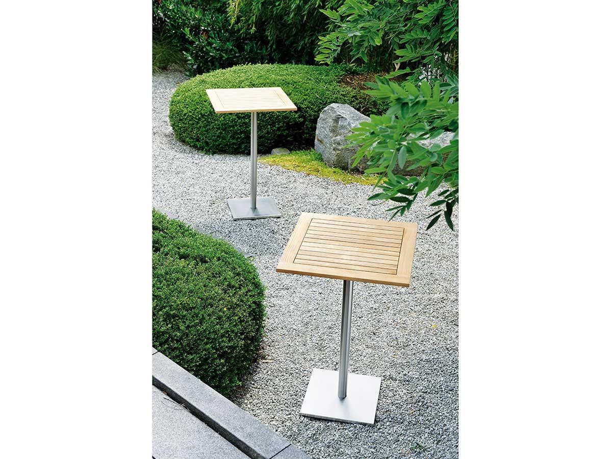Stern Gartentisch Stehtisch Edelstahl Teak 70x70 Cm Kaufen Im