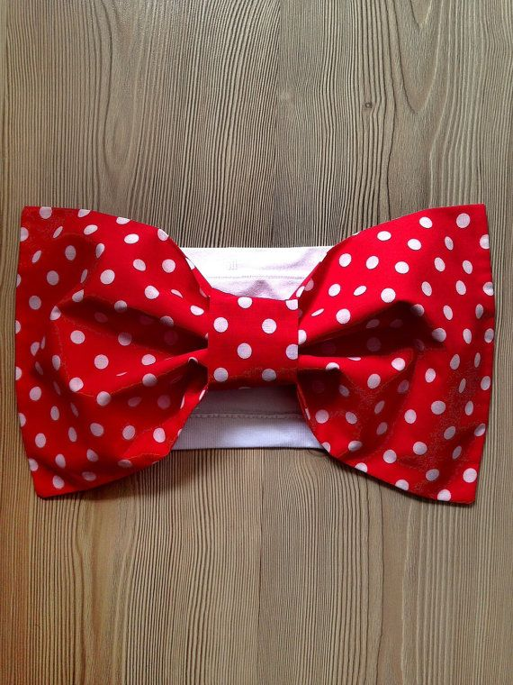 Red Bow Bandeau with White Polka Dots Beach Women Top by SWANTREE