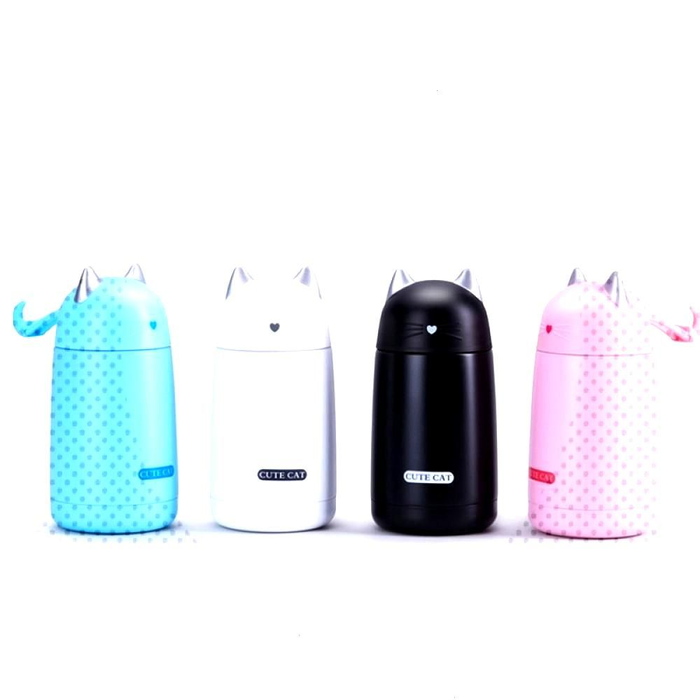Lovely Cat Shaped Eco-Friendly Stainless Steel Thermal Mug Price $ 17.72 amp FREE Shipping