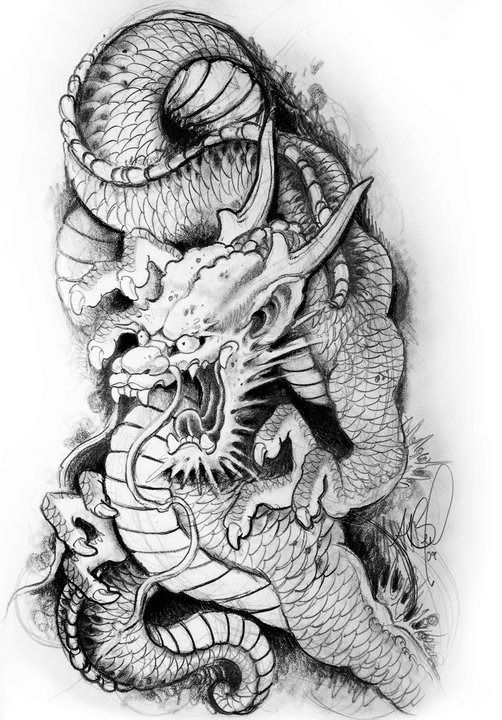 Dragon Japanese Dragon Tattoos Japanese Tattoo Dragon Tattoo Drawing