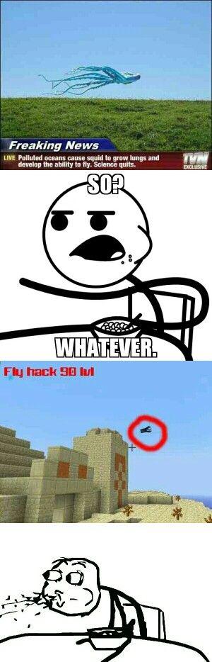 Funny Memes Minecraft : Minecraft flying squid meme lexi bell pinterest