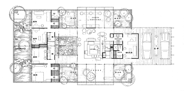 California modern floor plans | All images courtesy of Arts and ...