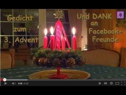 FG26 - Wünsche zum 3. Advent + Dank an Facebook-Freunde ❤ (Adventswünsche, Gedicht)