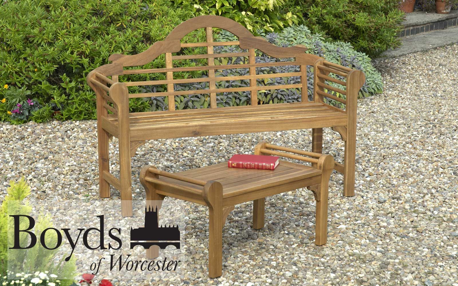 Greenhurst Lutyens Bench. Natural Oiled Finish. Solid ...