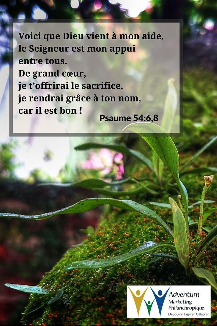 5 septembre 2015 - Psaume 54:6,8 | Psaumes, Texte biblique, Seigneur