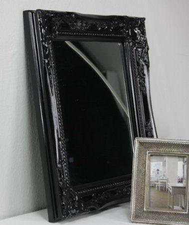 spiegel wandspiegel barock schwarz badspiegel holz. Black Bedroom Furniture Sets. Home Design Ideas