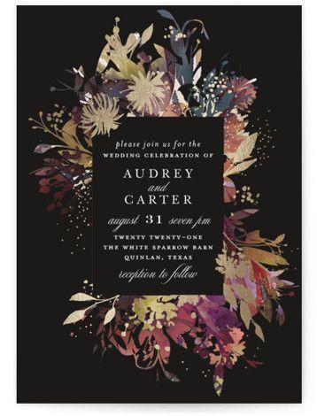 Fantasy Foil-Pressed Wedding Invitation Petite Cards
