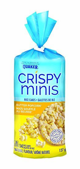 Quaker Crispy Minis Butter Popcorn Flavour Large Rice Cakes Pack Of 12 Flavored Popcorn Butter Popcorn Gluten Free Butter
