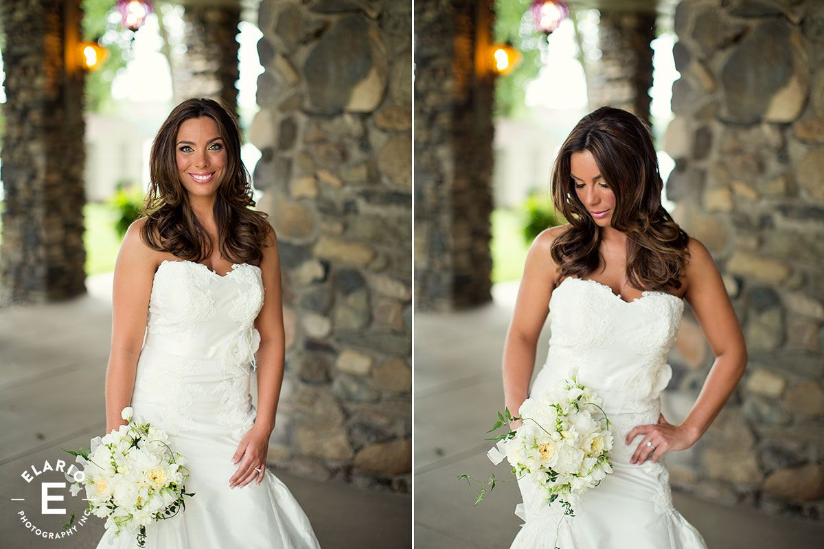 fit and flare gown, spring wedding, wedding hair down