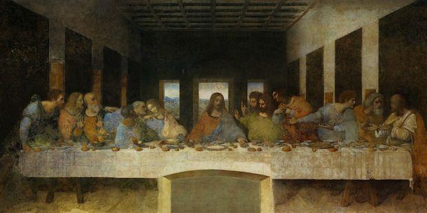 Het Laatste Avondmaal Leonardo Da Vinci Da Vinci Was één Van De Eerste Schilders Die Het Eenpunts Perspectie Kunst Ideeën Leonardo Da Vinci Laatste Avondmaal