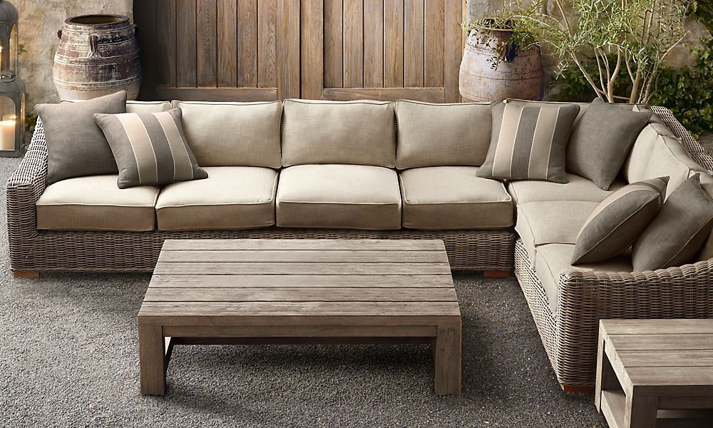 rooms restoration hardware outdoor sectional