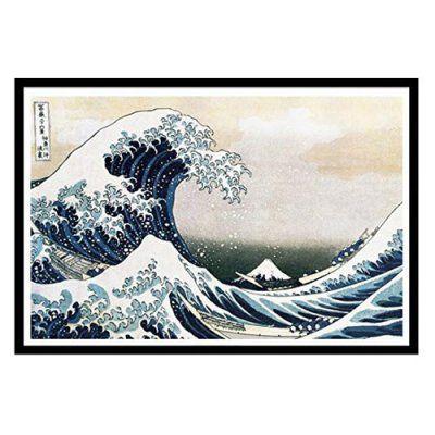 ea28098eca8e buyartforless The Great Wave Off Kanagawa 1830 Framed Wall Art with Matte