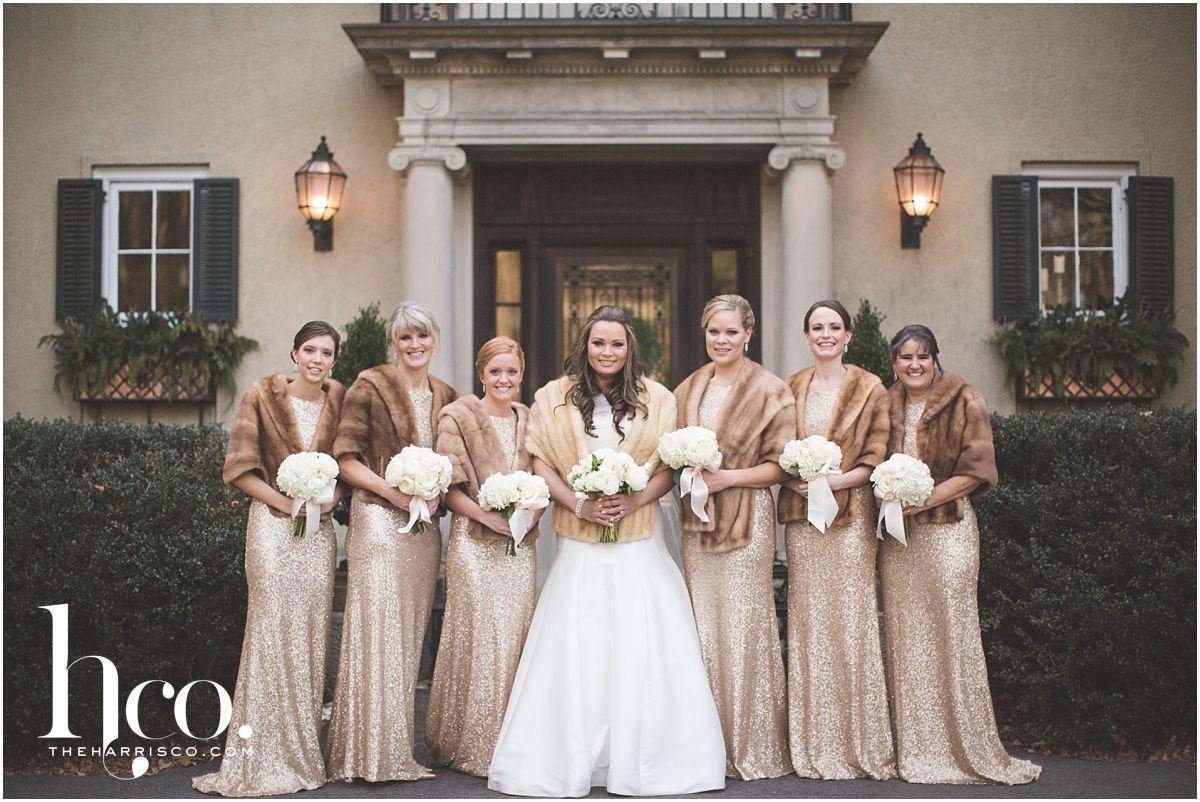 Royal winter wedding at lord thompson manor bridesmaid inspiration