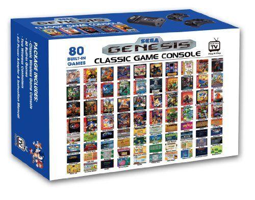 Amazon Com Atgames Sega Genesis Classic Game Console Toy Kids Play Children Toys Games Sega Genesis Classic Classic Games Sega Genesis