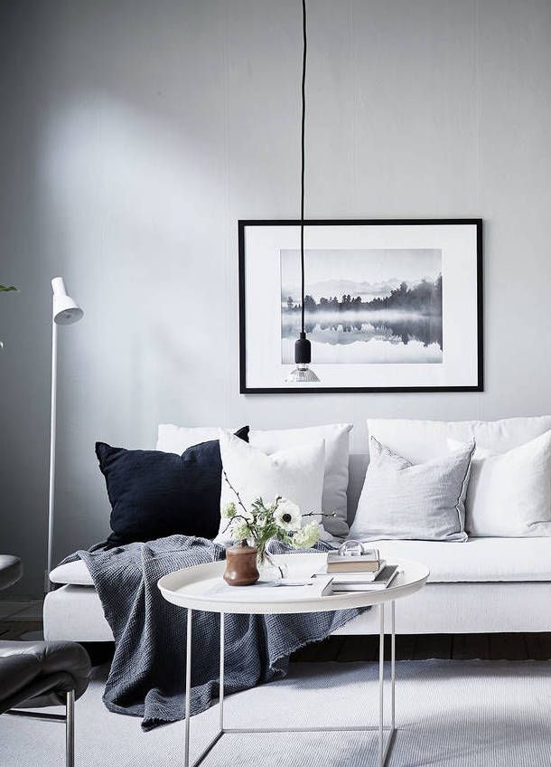 Fresh Home In Grey Via Coco Lapine Design Living Room