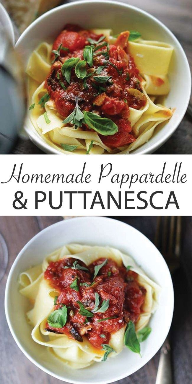 Photo of Homemade Pappardelle Pasta with Puttanesca Sauce Recipe