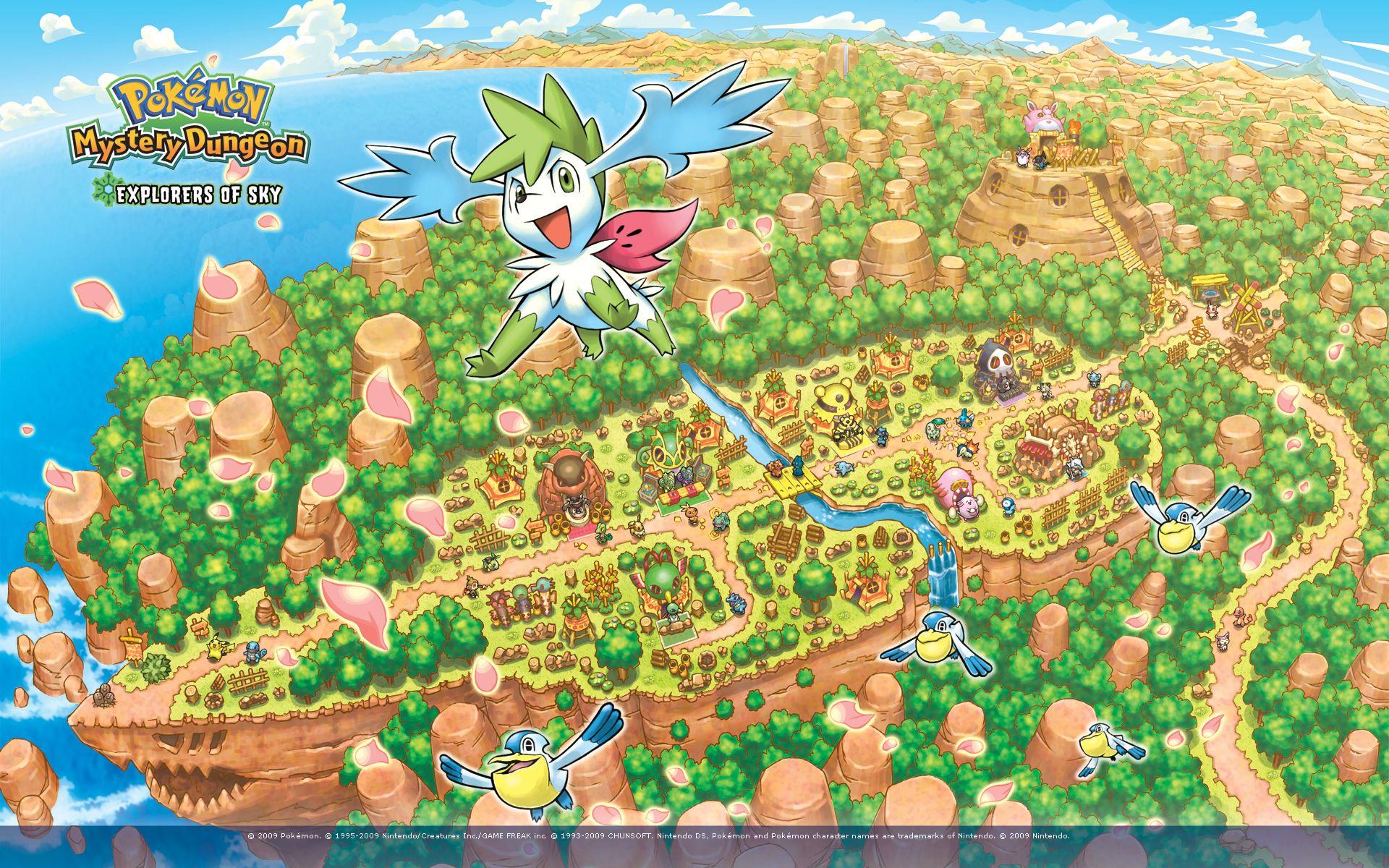 Pokemon Mystery Dungeon Explores Of The Sky Pokemon Website Pokemon Dungeon