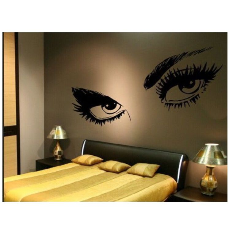 Pin By Jeanne CerratoClark On For The Home Pinterest Bedrooms - Wall stickershuhushopxaudrey hepburn beautiful eyes removable