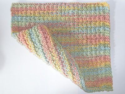 knit dishcloth pattern.  I like the colors of the yarn.  Buttercream yarn by Sugar and Cream
