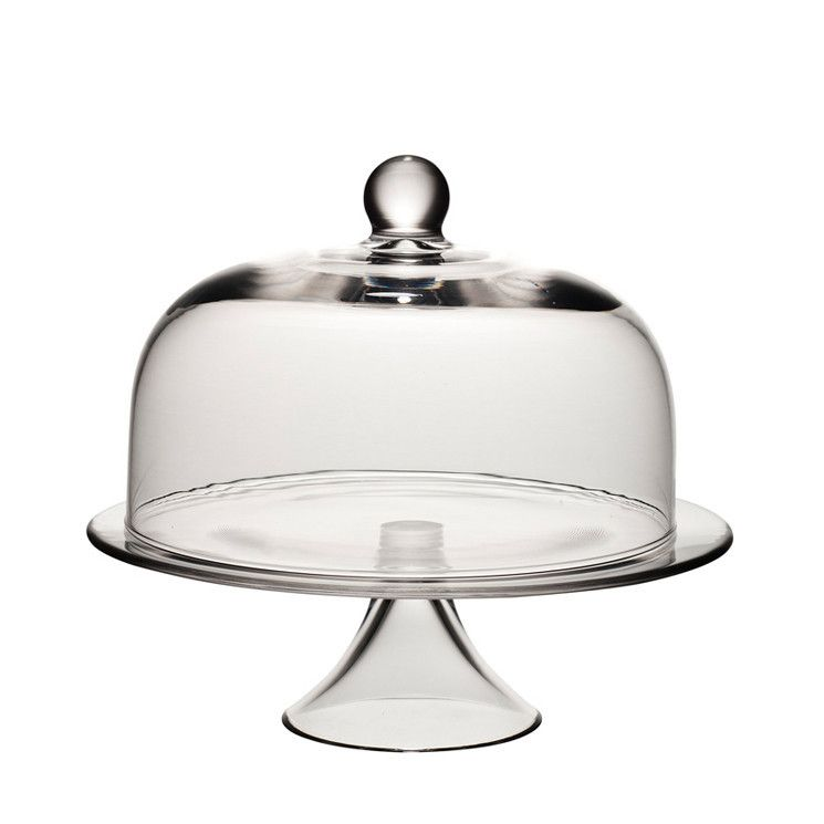 Glass cake stand with dome cover perfect for wedding