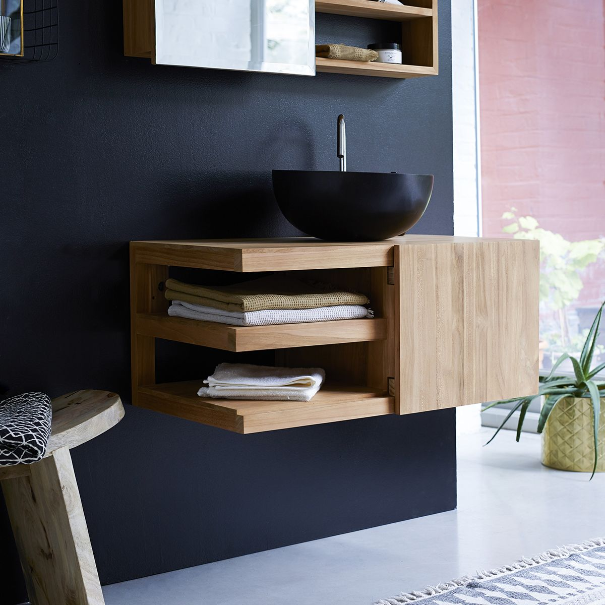 Wall Mounted Bathroom Vanity Cabinet Typo Teak Furniture In 2020 Bathroom Vanity Cabinets Teak Furniture Furniture