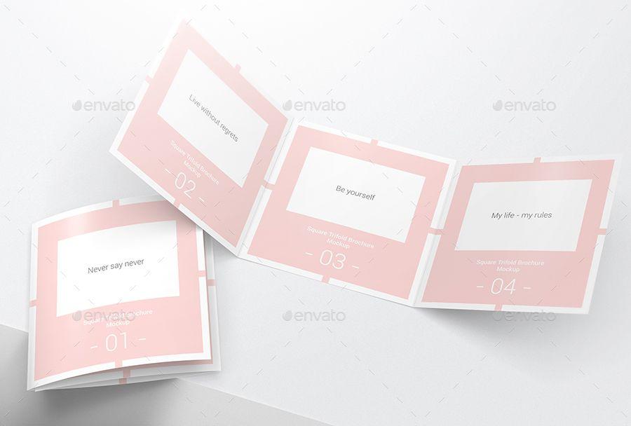 Square Trifold Brochure Mockups Mockup Pixel Size