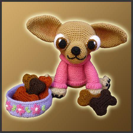 Lupita Chihuahua - Amigurumi Pattern   Crochet pet, Crocheted toys ...