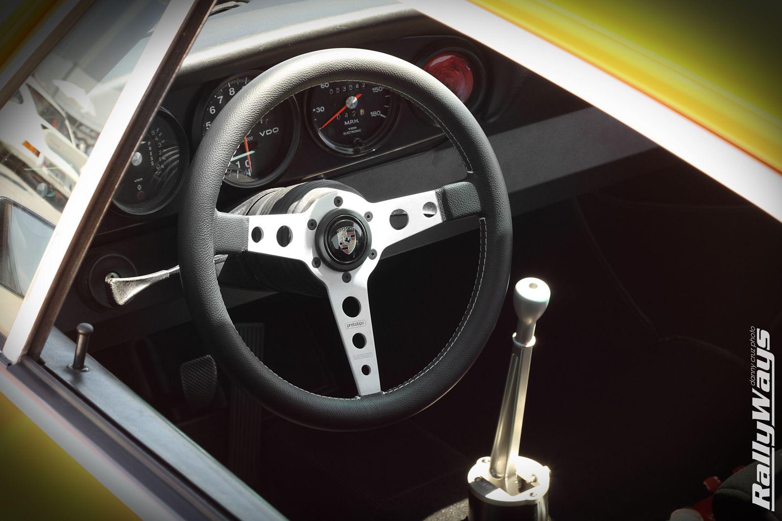 momo prototipo steering wheel in a classic 1972 porsche. Black Bedroom Furniture Sets. Home Design Ideas