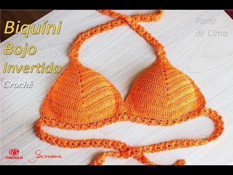 9bb0c559b Biquíni de Crochê com bojo invertido | Tamanhos: P,M,G,GG e EXG Professo.