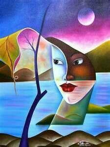 Naturaleza Pinturas Abstractas Arte Abstracto Arte Cubista