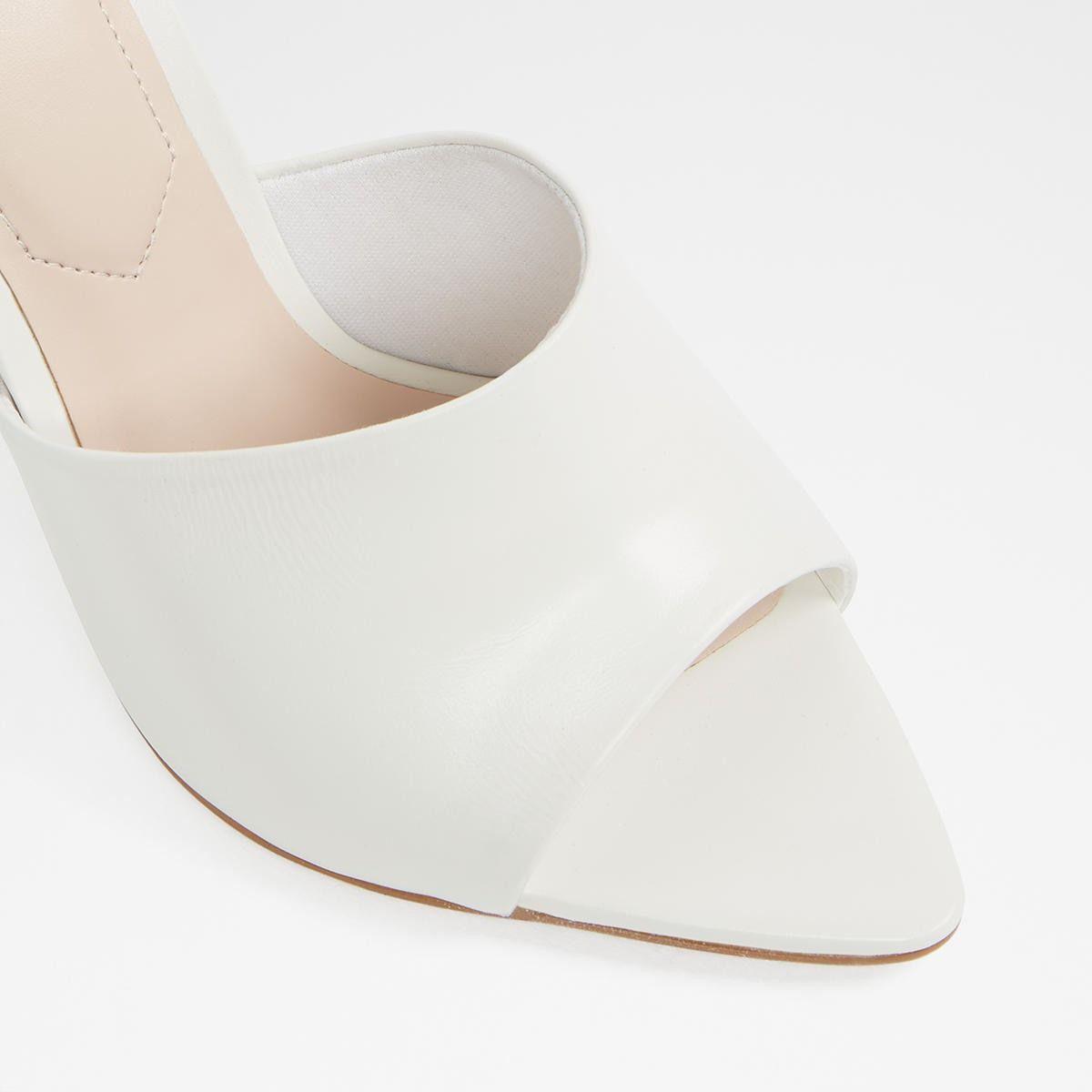 Padova White Women's Mules   Aldoshoes