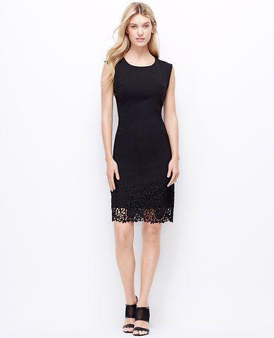 9a8c6aa10bb1 Lace Hem Sheath Dress Mode Tips, Modetrender, Modedesign, Lbd, Klänningar  För Arbete