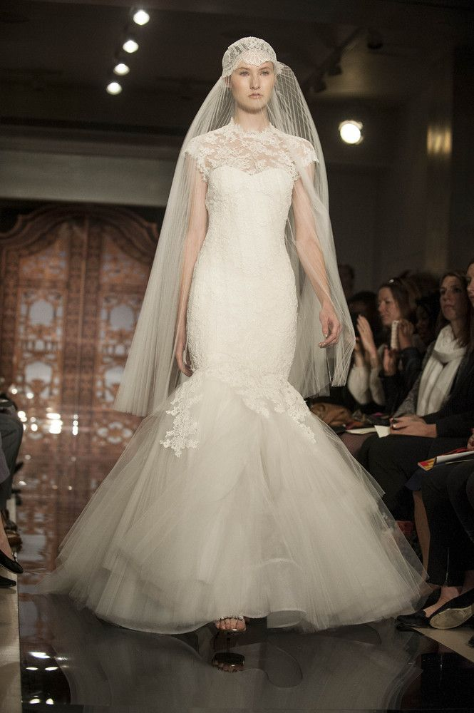 The Most Outrageous Wedding Gowns For 2013 | Reem acra, Veil and ...