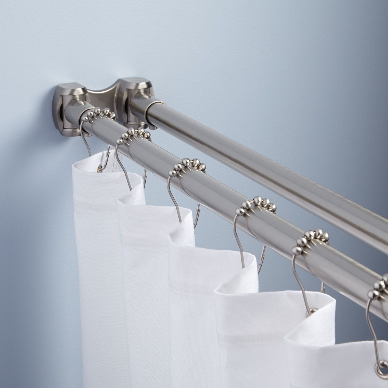 Straight Double Shower Curtain Rod Shower Curtain Rods