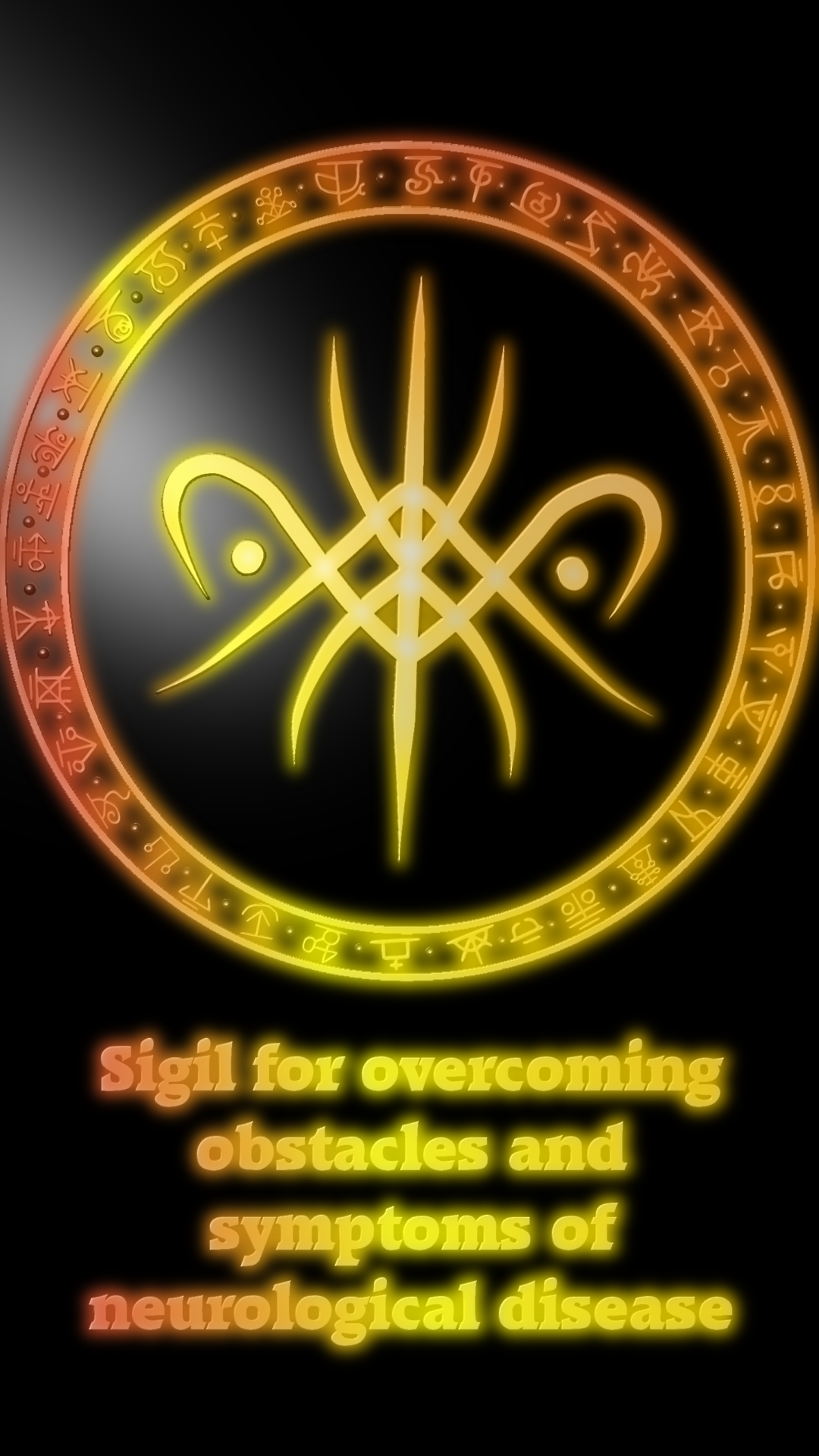 Sigil For Overcoming Obstacles And Symptoms Of Neurological Disease