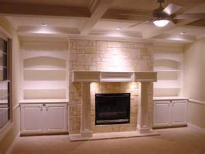 Shelves On Each Side Of Fireplace With Cabinets Fireplace Built Ins Fireplace Design