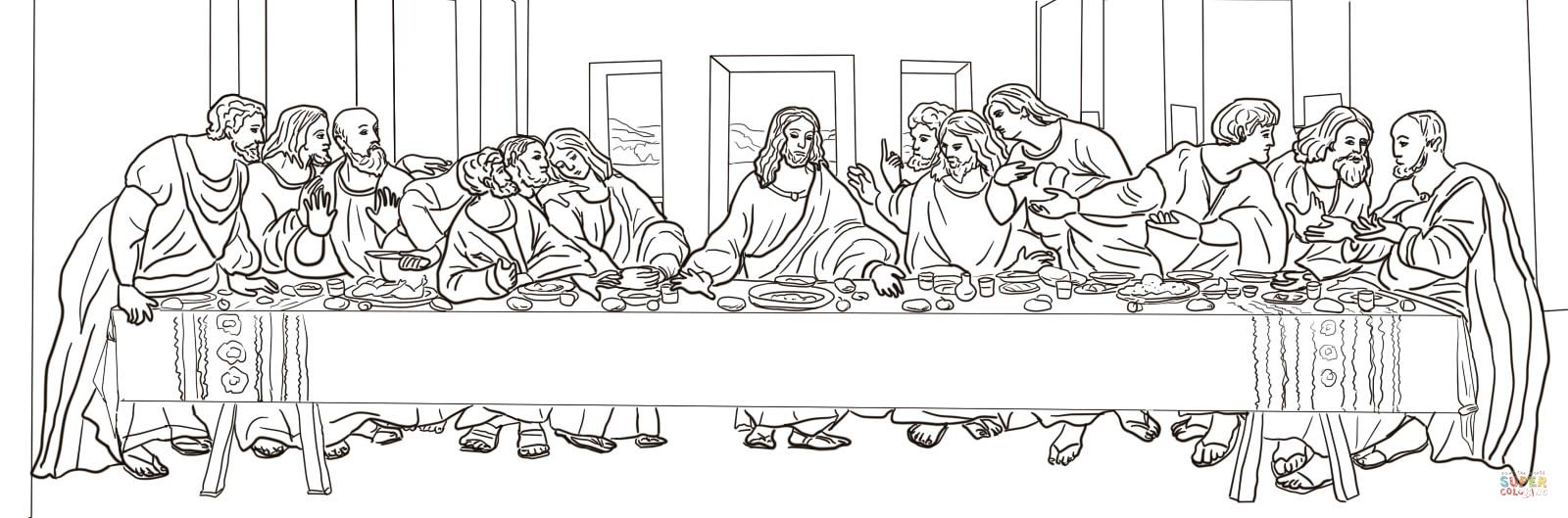 The Last Supper Coloring Page Last Supper Coloring Pages Jesus Coloring Pages