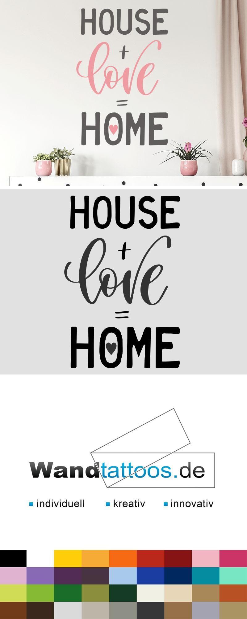 Wandtattoo House love home als Idee zur individuellen ...