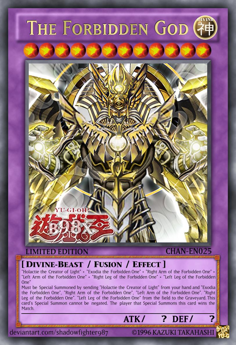 The Forbidden God Custom Yugioh Cards Yugioh Cards Rare Yugioh Cards
